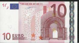 """10 EURO """"X"""" GERMANY R005 B2 X08870210597 UNC DUISENBERG - 10 Euro"""