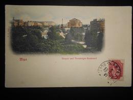 Lettonie , Carte De Riga 1901 Non Voyage Mais Avec Cachet De Neuchatel - Letonia