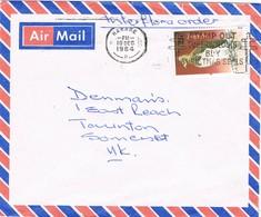 31963. Carta Aerea HARARE (Zimbabwe) 1984. Tuberculosis Slogan Christmas - Zimbabwe (1980-...)