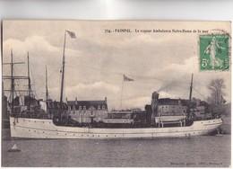 CPA - 22 - PAIMPOL - Le VAPEUR AMBULANCE NOTRE DAME DE LA MER Carte Voy En 1913 Bel état Et PEU COMMUN E - Paimpol