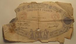 1931 - France - CINQ CENTS FRANCS, Bleu Et Rose, Paris, Le 16 Juillet 1931.R. 291 F.1760 - 1871-1952 Anciens Francs Circulés Au XXème