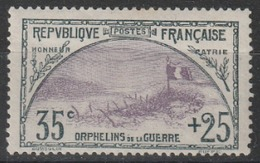 Année 1917-18 - N° 152 - Au Profit Des Orphelins De La Guerre - Neuf (taches De Rouille : Voir Scan) - Cote Neuf : 500 € - France