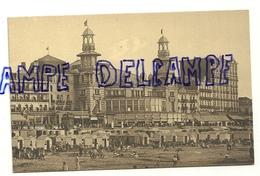 Côte Belge. Blankenberge. Vieux Casino Et Plage. Carte Animée - Vieux Papiers