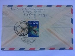 MALAYSIA - 1968 Air Mail Cover Registered Kajang To Karaikudi India - Malaysia (1964-...)