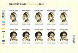 South Africa - 2019 Albertina Sisulu Sheet (**) - Blocs-feuillets