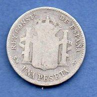 Espagne -  1 Pesetas 1900  -- Km  # 706 -  état  B - [ 1] …-1931 : Kingdom