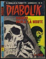 """DIABOLIK N ° 3 """" PRONTO ... PARLA LA MORTE """" DE 1975 - Diabolik"""