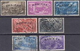 TRIESTE ZONA A - 1948 - Lotto Di 7 Valori Usati: Yvert 18/20, 23, 25, 57 E 28. - Usati