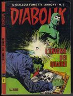 "DIABOLIK N ° 7 "" L'ENIGMA DEI QUATRI "" DE 1976 - Diabolik"
