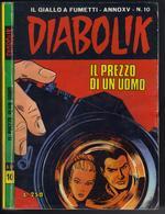"""DIABOLIK N ° 10 """" IL PREZZO DI UN UOMO """" DE 1976 - Diabolik"""