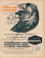 Ancienne Publicité (1960) : RHOVYL, Sacs De Couchage Isothermyl, Campaing, Tente - Advertising