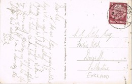 31966. Postal FURTWANGEN (Alemania Reich) 1938 To England. Schwarzwaldhaus In Oberwolfach - Allemagne