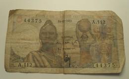 1949 - Afrique Occidentale - West Africa - CINQ FRANCS - 30-12-49 - A.112  44375 - Billets