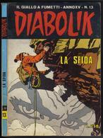 """DIABOLIK N ° 13 """" LA SFIDA """" DE 1976 - Diabolik"""