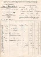 3368    1926  FACTURE ETS LEVY ET NEURDEIN A PARIS - M.SELLIER A BAGNERES DE LUCHON - France