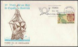AO72   España-Sobres Primer Dia FDC Series Completas 1976 Primer Viaje Al Continente Americano De Los Reyes De España - FDC