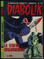 "DIABOLIK N ° 14 "" LA STATUA INSANGUINATA "" DE 1976 - Diabolik"
