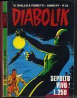 """DIABOLIK N ° 18 """" SEPOLTO VIVO ! """" DE 1976 - Diabolik"""
