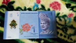 Malaysia 2011 RM1 $1 1 Ringgit POLYMER P-51a UNC Banknote Zeti Z.A Aziz HIBISCUS - Malaysia
