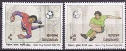 Bangladesch, 1990, 332/33, Fußball-Weltmeisterschaft, Italien. MNH ** - Bangladesch