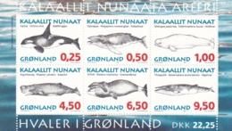 Grönland, 1996, 287/92 Block 10, Grönländische Wale, MNH ** - Neufs