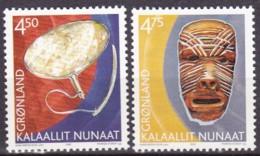 Grönland, 2002, 379/80, Norden. Grönländisches Kulturerbe. MNH ** - Grönland