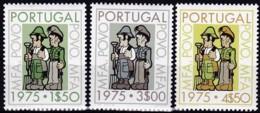 """Portugal, 1975, 1272/74, Die """"Bewegung Der Streitkräfte"""" Und Das Volk. MNH ** - 1910-... Republik"""
