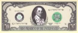 1 Mio Dollar Präsident Serie  George Washington / Fantasy Banknote - Billetes