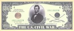 1 Mio Dollar Präsident Serie  Abraham Lincoln / Fantasy Banknote - Billets
