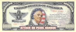 1 Mio Dollar Attack On Peart Harbor / Fantasy Banknote - Billets