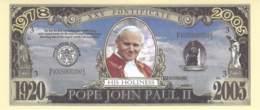 1 Mio Dollar Papst Johannes Paul II. / Fantasy Banknote - Billets