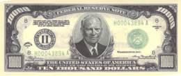 10 Tausend Dollar Eisenhower / Fantasy Banknote - Billets