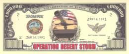 1 Mio Dollar Operation Desert Storm  / Fantasy Banknote - Other - America