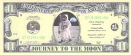 11 Dollar Journey To The Moon  / Fantasy Banknote - Billets
