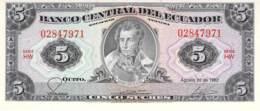 Cinco Sucres Banknote Ecuador - Ecuador