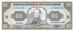 Chen  Sucres Banknote Ecuador - Ecuador