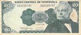 Veinte (20) Bolivares  Banknote Venezuela - Ecuador
