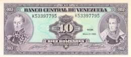 Diez (10) Bolivares  Banknote Venezuela - Ecuador