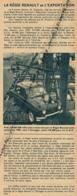 1960 : Document, La Régie Renault Et L'exportation, Dauphine Embarquée Sur Un Cargo Pour L'étranger... - Zonder Classificatie