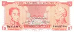 Cinco (5) Bolivares  Banknote Venezuela - Ecuador