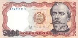 5000 Soles De Oro  Banknote Peru - Pérou