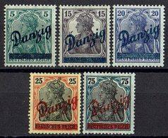 Danzig 1920 // Mi. 21/25 * - Danzig