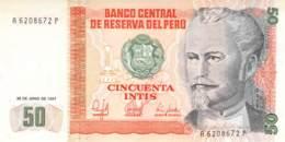 50 Cincuenta Intis Banknote Peru - Pérou