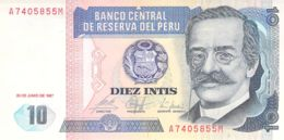 10 Diez Intis Banknote Peru - Pérou
