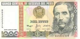 1.000  Mil Intis Banknote Peru - Peru
