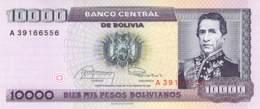 10.000 Diz Mil Pesos Bolivanos Banknote Bolivien - Bolivien