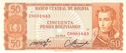 50 CincuentaPesos Bolivanos Banknote Bolivien - Bolivien