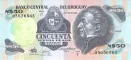 50 Cincuenta Nuevo Pesos  Banknote Uruquay - Uruguay