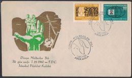 AO74   Turkey 1960 FDC  World Refugee Year - 1921-... Repubblica