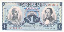 1 Un Peso  Banknote Columbia - Colombie